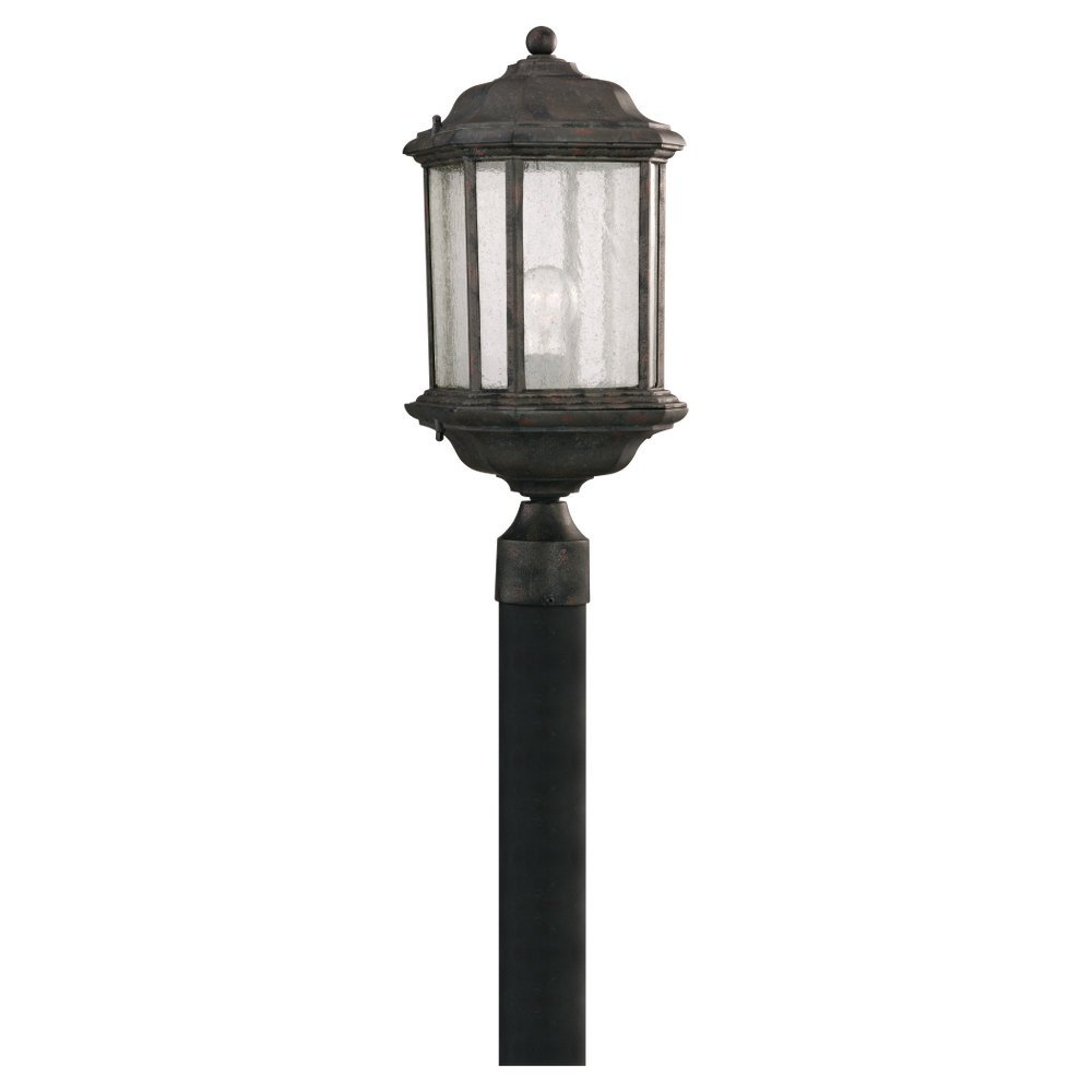 Sea Gull Lighting 82029-746 Outdoor Post Mount with Clear Beveled Glass Shades, Oxford Bronze Finish