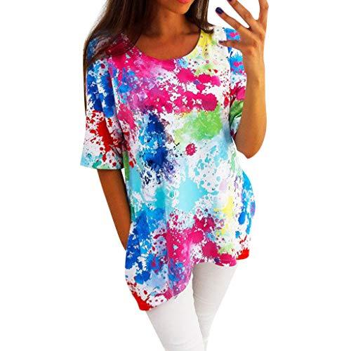 ✨Loosebee Women's Bohemian Embroidery Floral Tunic Shift Blouse Flowy Mini Dress ()