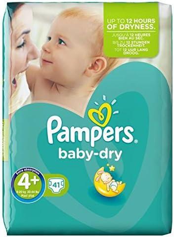 Pampers Baby Dry Pañales Tamaño 4+ Esencial Pack de 41 por paquete: Amazon.es: Bebé