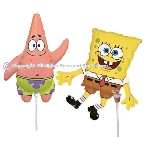 SPONGEBOB AND PATRICK BALLOONS BIRTHDAY PARTY MINI SHAPE FAVORS DECORATIONS CENTERPIECES ()