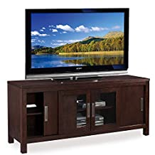 Leick Chocolate 60-Inch Sliding Door TV Console