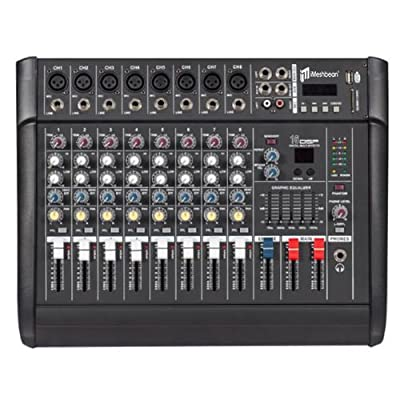 iMeshbean 4 / 6 / 8 / 10 Channel 2000 Watt Professional Powered Mixer with USB Slot Power Mixing Amplifier 16 DSP USA by Newgate