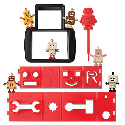 CuteZCute Robo Bread Bento Sandwich Stamping Cutter, Red/Black