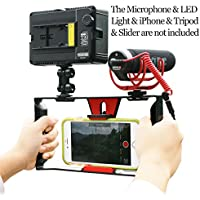 Smartphone Video Rig,Ulanzi iPhone Filmmaking Recording Vlogging Rig Case ,Phone Movies Mount Stabilizer for Mobile Phone Videomaker Film-maker Videographer for iPhone 7 Plus Sumsang