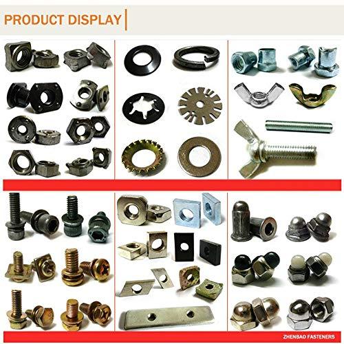 Ochoos m2.53D0.45P 304 Stainless Steel Corrosion Resistance Screw Insert Stainless Steel Thread Locking 100pcs