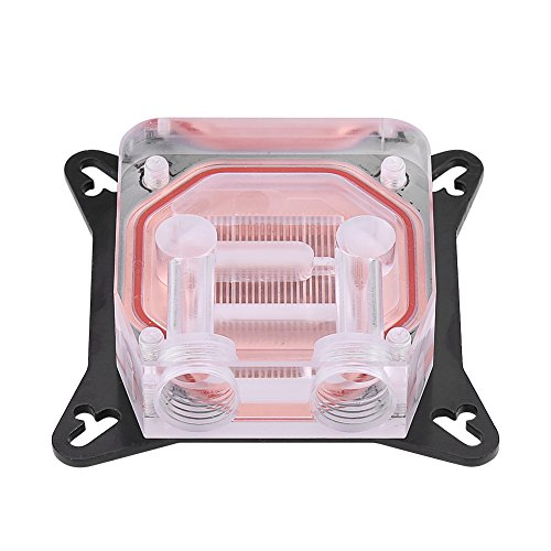 GPU Water Block Water Cooling Cooler Base, Copper POM Metal Water Cooling System Parts Kits for DIY PC Gamer with Waterway - Kit Water Cooling External