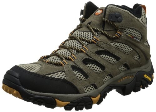 Merrell Mens Moab Ventilator Mid Hiking BootWalnut10 M US