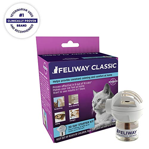 Feliway Classic Diffuser for Cats (30 Day Starter Kit) | Constant Calming & Comfort at Home ()