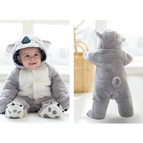 Digood for 0-18 Months Baby Toddlers Baby Boys Girls Cute Knitted Hooded Cartoon Romper Jumpsuit Clothes