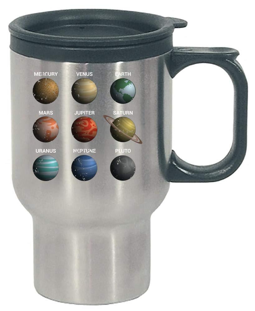 Funny Solar System - Nine Planets - Humor - Stainless Steel Travel Mug