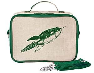 SoYoung Raw Linen Rocket Lunch Box, Green