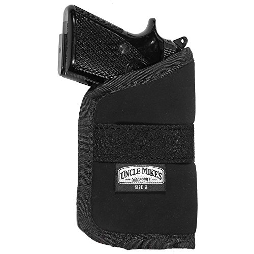 Uncle Mike's Off-Duty and Concealment Nylon OT Inside-The-Pocket Holster (Size 2, Black)