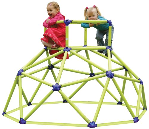 Eezy Peezy Monkey Bars Climbing Tower  Active Outdoor Fun for Kids Ages 3 to 6 Years Old Green/Blue  TM200