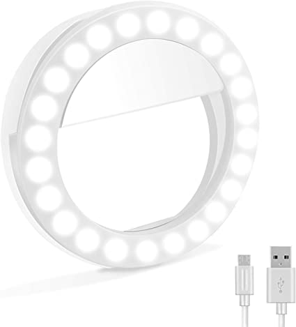 Makeup Compatible with Phone//Tablet//Laptop Camera Fine Makeup Mirror Ring Light Flash Light for Beauty Photography Video Clip-on Portable Selfie Light with 48 LED Lights