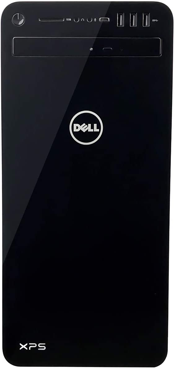 Dell XPS 8930 Tower Desktop - 8th Gen. Intel Core i7-8700 6-Core up to 4.60 GHz, 16GB DDR4 Memory, 1TB SSD + 1TB SATA Hard Drive, 8GB Nvidia GeForce GTX 1080, DVD Burner, Windows 10 Pro, Black
