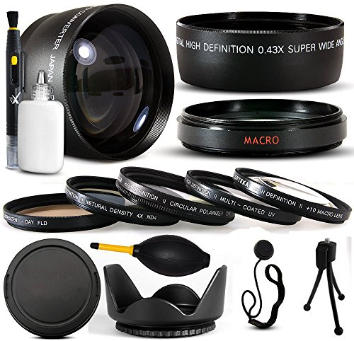 10 Piece Ultimate Lens Package For the Finepix S700 S5600 S5700 S5800 Digital Camera Includes .43x High Definition II Wide Angle Panoramic Macro Fisheye Lens + 2.2x Extreme High Definition AF Telephoto Lens + Professional 5 Piece Filter Kit (UV, CPL, FL, ND4 and 10x Macro Lens) + Tube Adapter+ Flower Lens Hood + Deluxe Lens Cleaning Kit + LCD Screen Protectors + Mini Tripod + 47stphoto Microfiber Cloth Photo Print ! (Telephoto Wide Angle Macro 10x Cpl Lens)