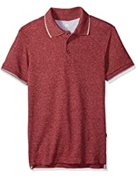 Men's Polo Shirt Short Sleeve Big Tall Regular, Wine, Medium