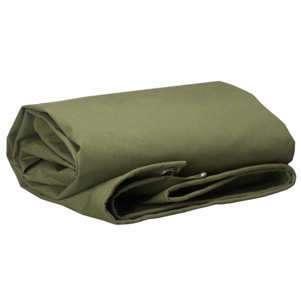 PENGFEI キャンバス オーニング ターポリン 防水 貨物 日焼け止め 防塵の 厚い 耐久性のある 高温、 厚さ0.75MM、 650 g/m2 (色 : 緑, サイズ さいず : 5x7m) B07DDC33D2 5x7m|緑 緑 5x7m