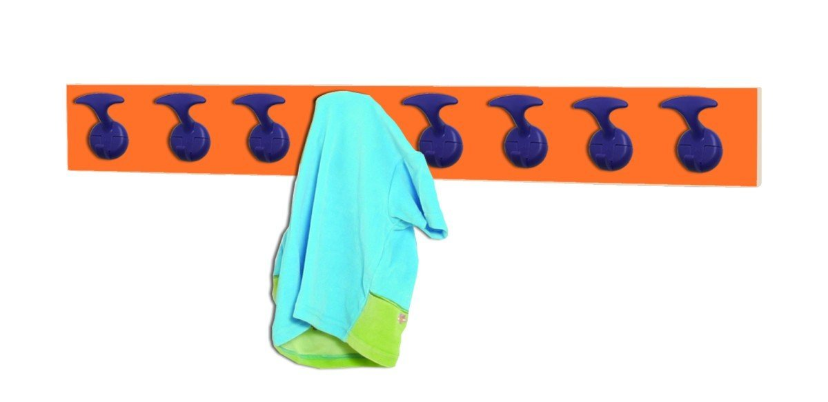 grandes ahorros Mobeduc Perchero Infantil Infantil Infantil 8 Perchas, Haya, Haya y Naranja, 100x7x12 cm  marcas de diseñadores baratos