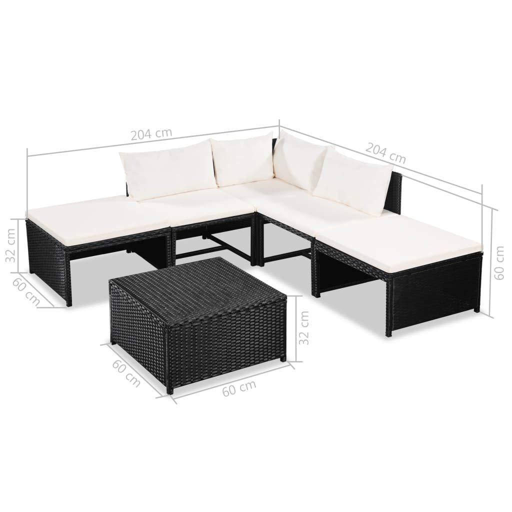 Amazon.com: Festnight 6 Piece Outdoor Conversation Sofa Set ...
