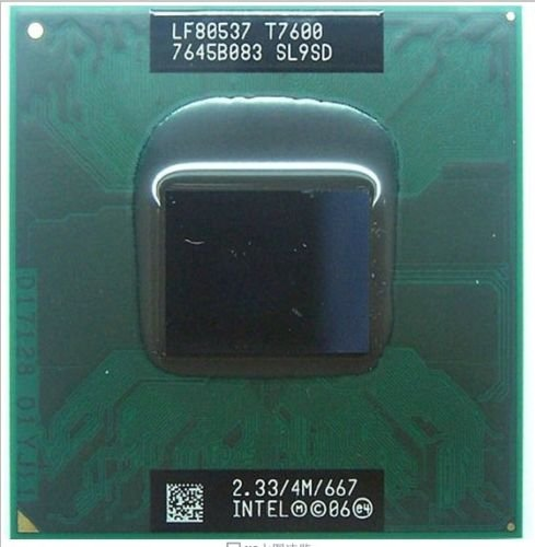 Intel Core 2 Duo T7600 SL9SD 2.33GHz 4MB Mobile CPU Processor Socket M 478-pin 4mb Core 2 Duo Mobile