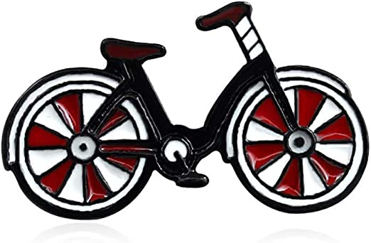 Ogquaton Dibujos Animados Esmalte Bicicleta Insignia Collar ...