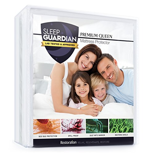 Sleep Guardian Queen Mattress Protector - Lab Tested Premium
