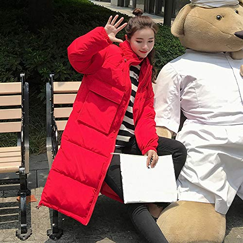 Long Red Women Thick Coats Neck Warm for Winter Slim Overcoat CUTUDE Stand Jacket qgTw7