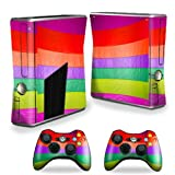 MightySkins Protective Vinyl Skin Decal Cover for Microsoft Xbox 360 S Slim + 2 Controller skins wrap sticker skins Candy