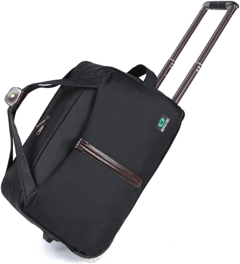 Color : Black, Size : 562834 Travel Bags Trolley Case Men and Women High Capacity Waterproof Boarding Foldable Luggage Suitcases Carry On Hand Luggage Durable Hold Tingting
