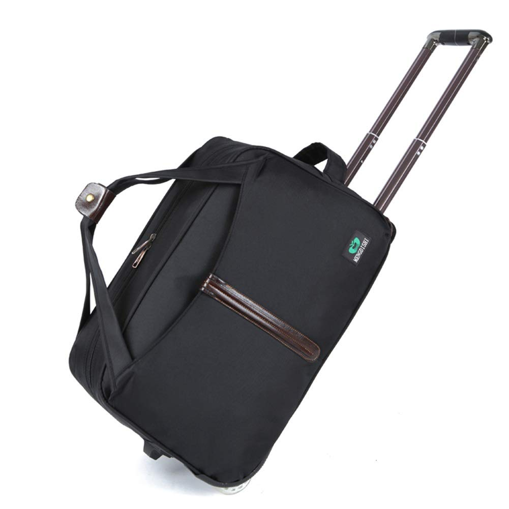 Color : Black, Size : 562834cm Travel Bags Solid Color Waterproof Portable Pull Rod Trolley Case Luggage Suitcases Carry On Hand Luggage Durable Hold Tingting