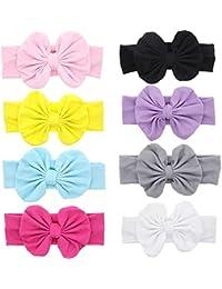 Baby Hair Hoops Headbands Girl's Soft Headbands With bows...
