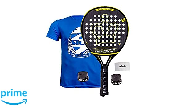 Pala De Padel Black Crown Revolution: Amazon.es: Deportes y ...