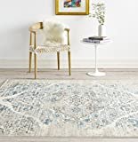 Area Rugs for Living Room 4620 Distressed Cream 7'10x10'6 Area Rug Carpet Large New