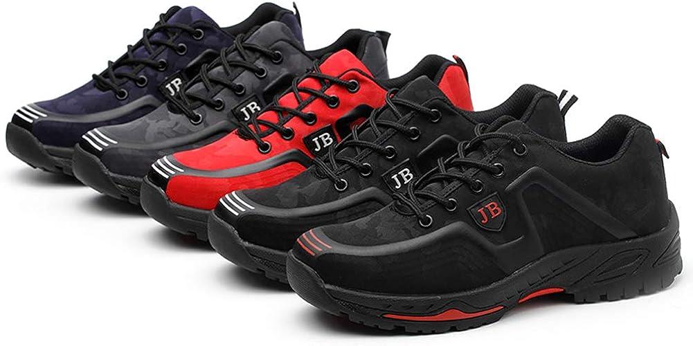 happygo Chaussure de S/écurit/é Homme Femme Legere Confortable Chaussures de Travail Embout de Protection en Acier Baskets