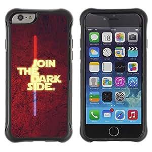 Be-Star único patrón Impacto Shock - Absorción y Anti-Arañazos Funda Carcasa Case Bumper Para Apple iPhone 6 Plus(5.5 inches)( Join The Dark Side )