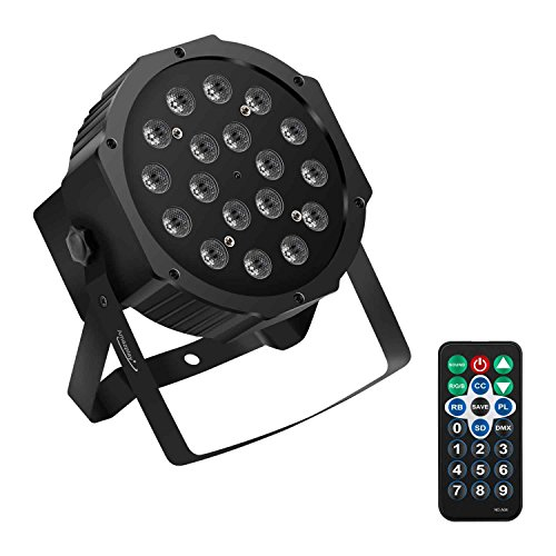 Amaz-Play 18 LED PAR Light, Magic Stage effect, Controlled by remoter and DMX512, Used as Stage light, Bar Light, KTV Light, Flicker Light, Halloween, Christmas, (Halloween Controller)