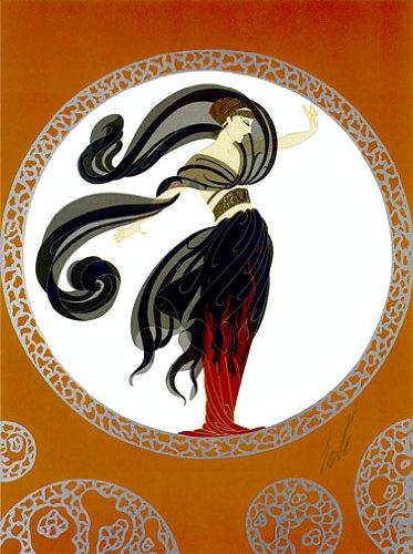 Fire of Love Big Art Deco Print Erte