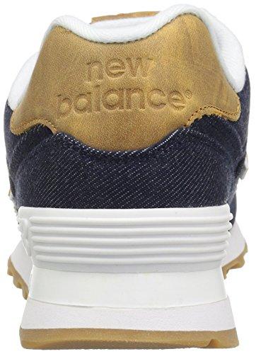 Ny Balanse Kvinners Wl574 Lerret Pakke Sneaker Pigment / Bivoks
