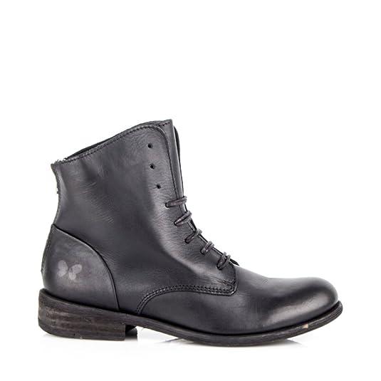 Felmini - Damen Schuhe - Verlieben Bomber 8497 - Schnüren Sie sich oben  Stiefel - Echtes Leather - Schwarz- EU:38: Amazon.de: Schuhe & Handtaschen