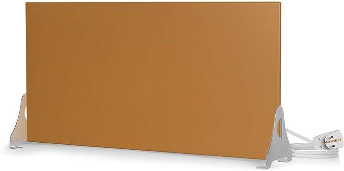 Deutscher Hersteller seit 1992 400 Watt // 600 x 300, Gold Magma/® Infrarotheizung Metallic Standversion Magmaheizung mit 10 Jahren Garantie