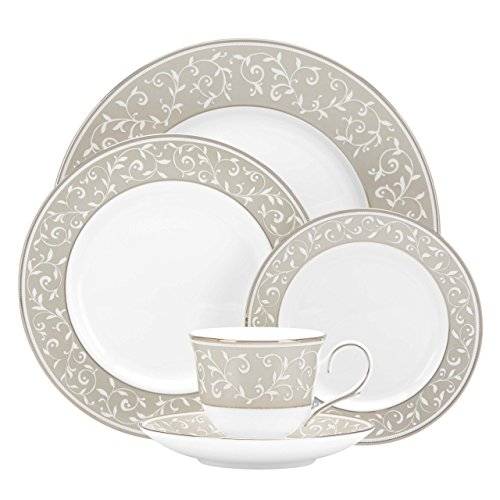 Lenox 5-Piece Opal Innocence Dune Place Settting, -
