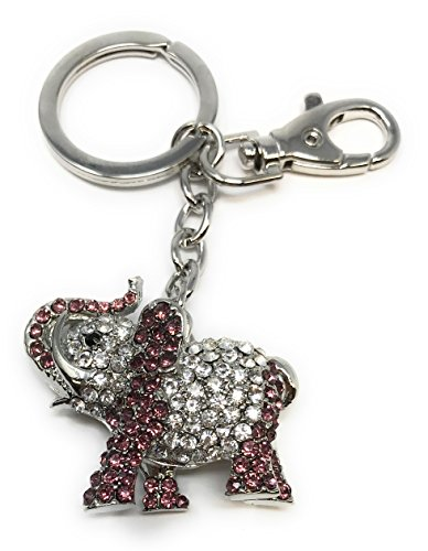 - Value Arts Bejeweled Elephant Key Chain, 4 Inches Long