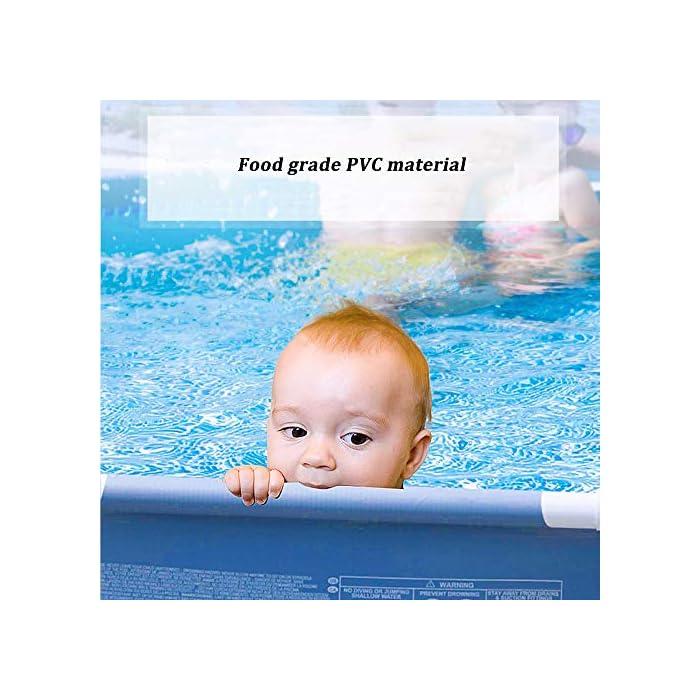 51s0ajuyAmL ✔ Hecho de material de malla de PVC de tres capas, natación de alta resistencia, duradera y segura ✔ La piscina está conectada con tubos de electrochapado antioxidantes para prolongar la vida útil. ✔ Cinco especificaciones, con capacidad para 2-6 personas