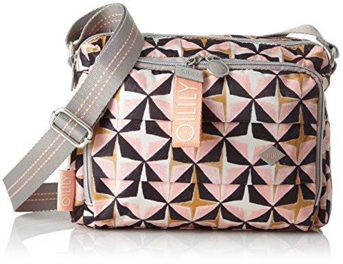 Oilily Ruffles Geometrical Shoulderbag Shz 1, Shoppers y bolsos de hombro Mujer, Rosa (Rose), 12x18x24 cm (B x H T)
