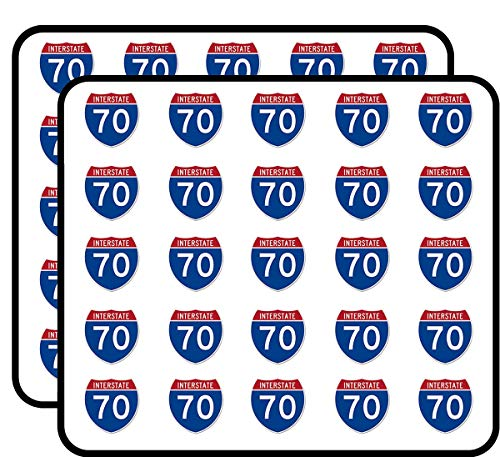 Interstate 70 Colorado Freeway Sign Shaped (Road Trip Travel rv CO Denver Rocky Mountains) Sticker for Scrapbooking, Calendars, Arts, Kids DIY Crafts, Album, Bullet Journals