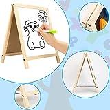 INNOCHEER Easel for Kids, Magnetic Wooden A-Frame