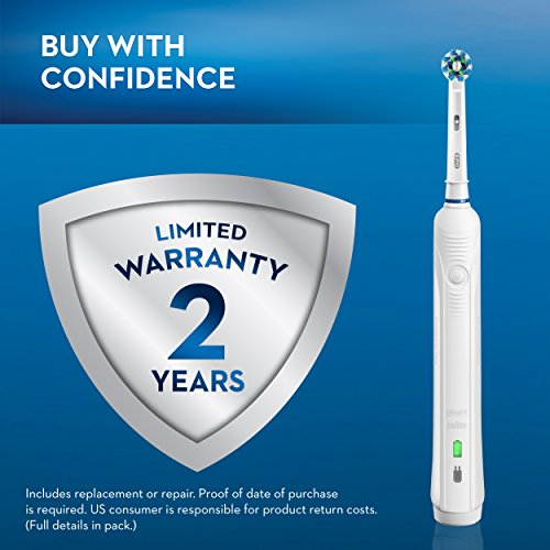 Oral-B White Pro 1000 Power Rechargeable Electric Toothbrush, Powered by Braun by Oral-B (Image #10)