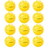 Onix Fuse Outdoor Pickleballs (Yellow, 12-Pack)