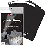 (25 Count Pack) BCW COMIC BOOK DIVIDERS - BLACK - NEW DESIGN innovative flex fold tabs